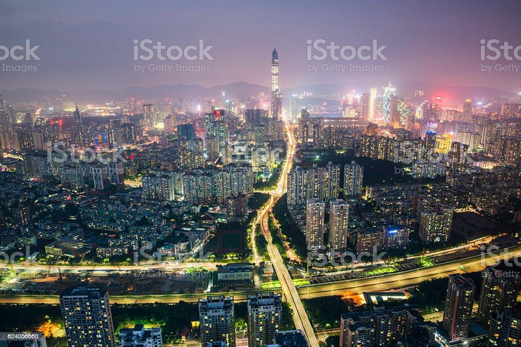 China shenzhen Skyscraper stock photo