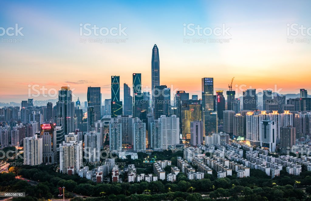 China shenzhen Skyscraper zbiór zdjęć royalty-free