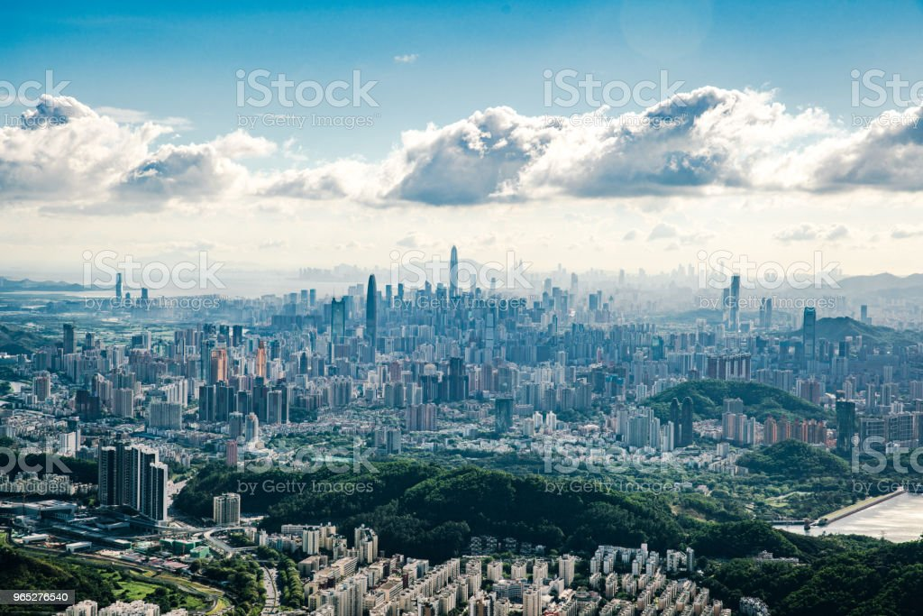 China shenzhen Skyscraper royalty-free stock photo