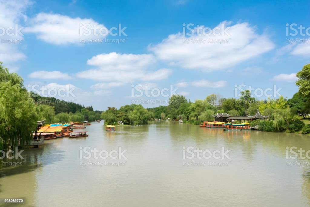 China Slender West Lake in Yangzhou stock photo