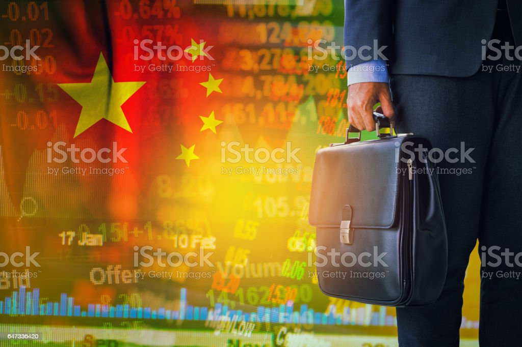 china stock and business concept stock photo