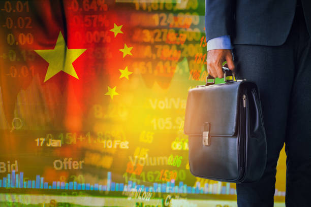 bolsa de China y concepto de negocio - foto de stock