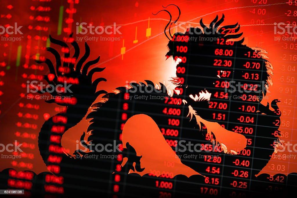 China stock market graph ticker – Foto