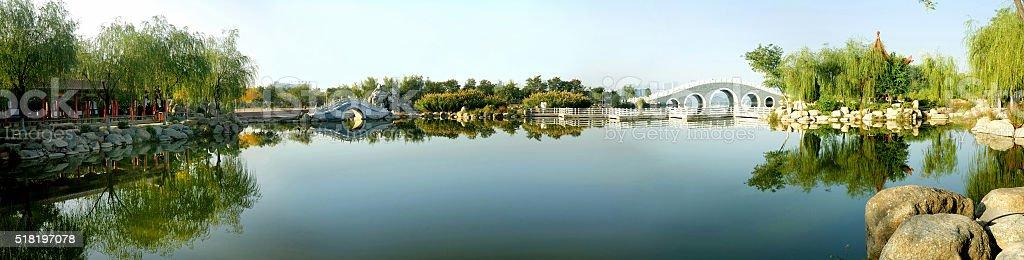 China style garden stock photo