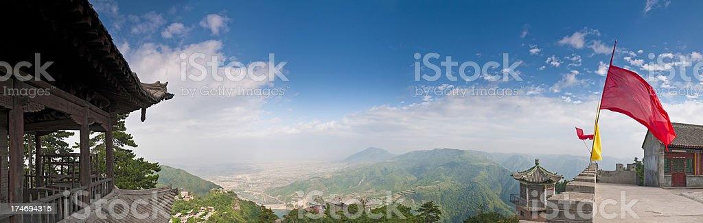 China Taoist temple Kongtong mountain summit royalty-free stock photo