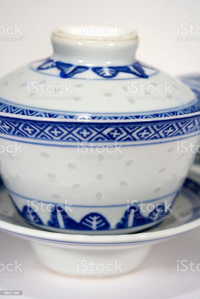 China tazas de té foto de stock libre de derechos
