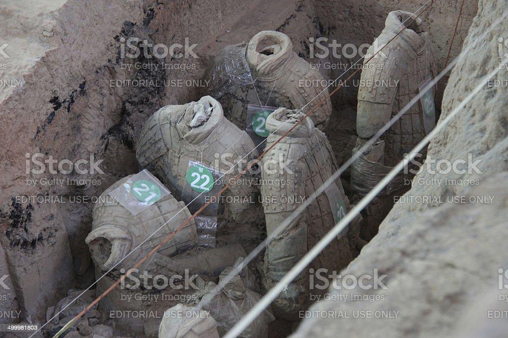 China: Terra Cotta Warriors in Xian stock photo