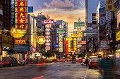 BANGKOK - JUNE 9: The China Town at Yaowarat Road. Attractive light at night, Thailand on June 9, 2014.