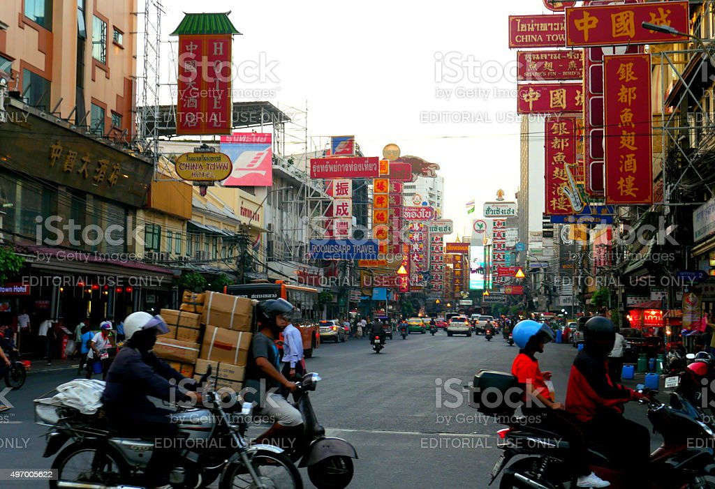China Town, Bangkok stock photo