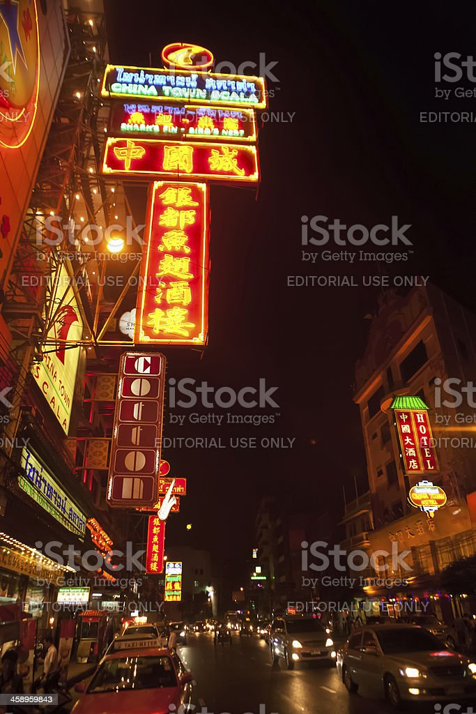 China Town District Bangkok, Thailand royalty-free stock photo