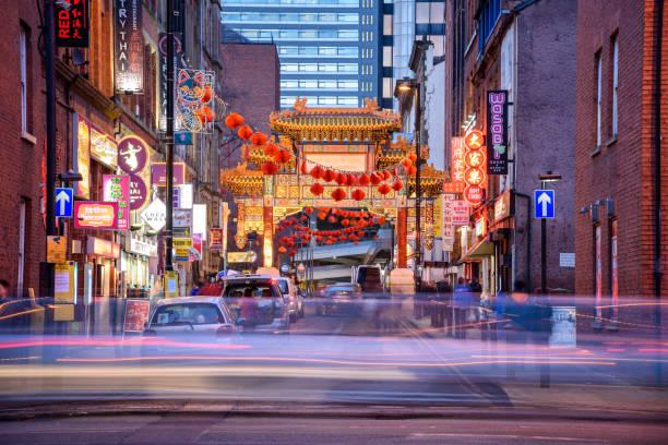 china town manchester - chinatown stockfoto's en -beelden