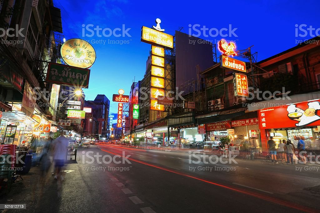 china town stock photo