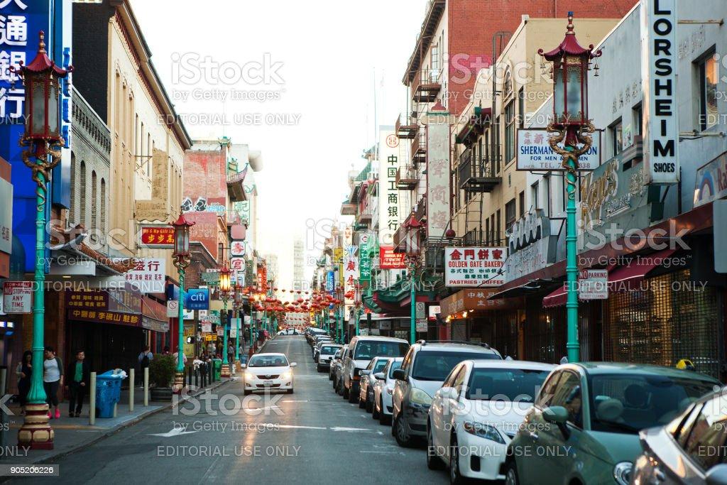 China town, San Francisco stock photo
