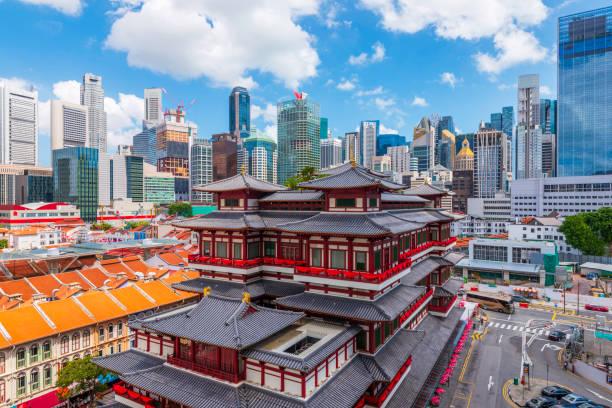 Ciudad china de Singapur en Buddha Tooth Relic Temple. - foto de stock