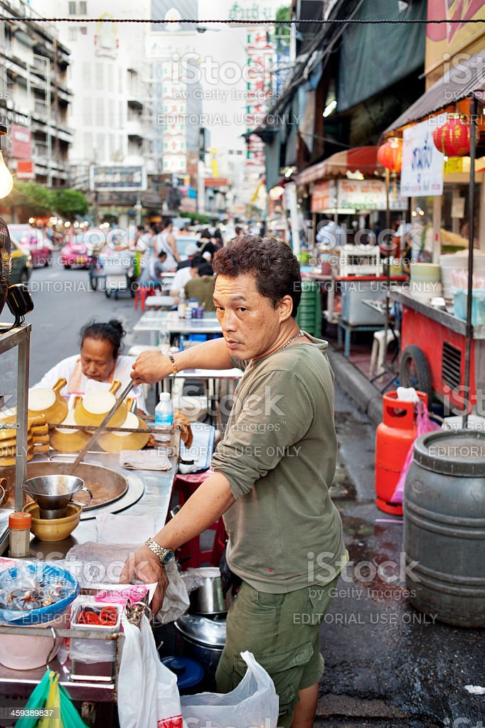 China Town Street Restaurant royalty-free stock photo