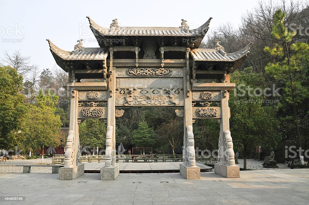 China traditional memorial arch stock photo