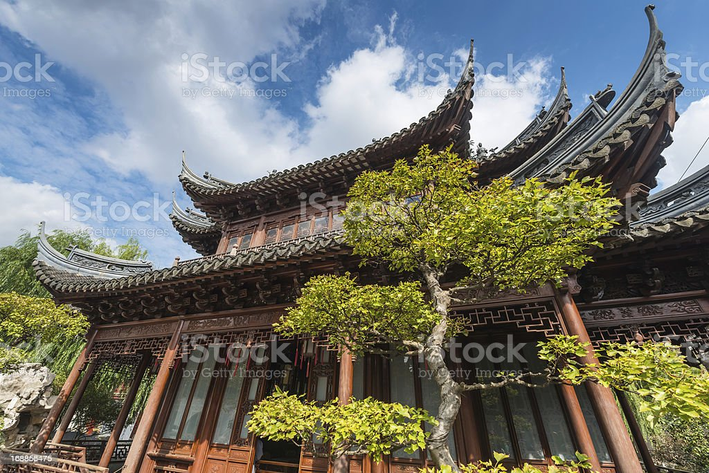 China Traditional Pagoda Temple Yuyuan Garden Shanghai ...