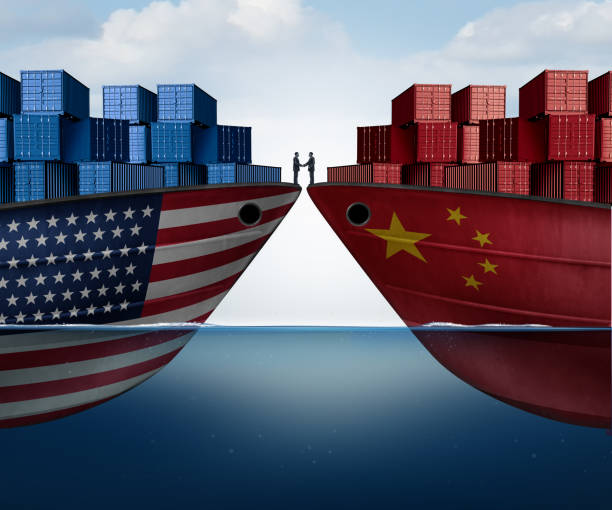 China United States Trade Agreement stock photo