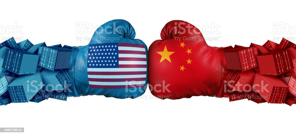 China United States Trade Challenge stock photo