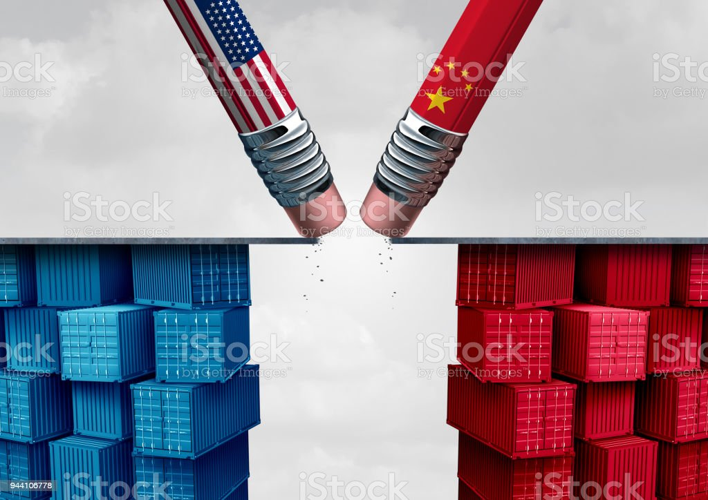 China United States Trade Crisis stock photo