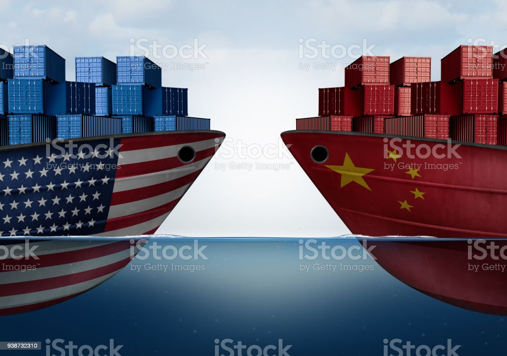 China United States Trade stock photo