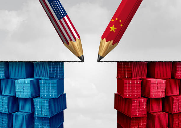 China United States Trade Solution stock photo