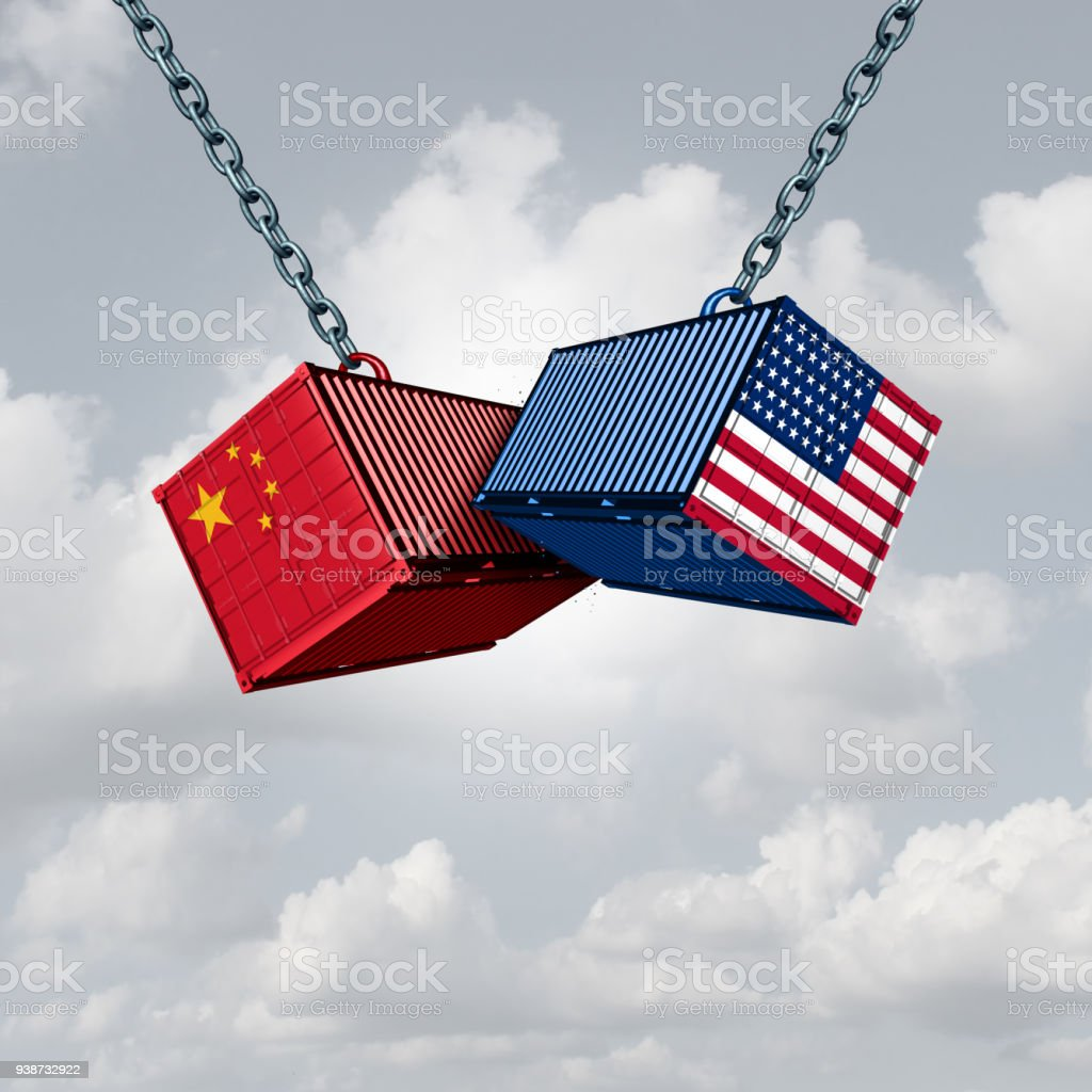 China USA Trade War stock photo