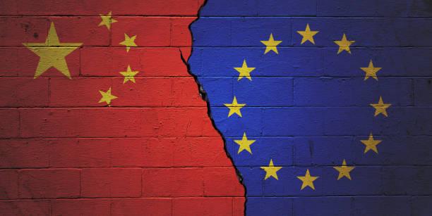 China versus European Union stock photo