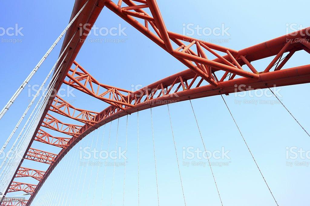 China WuHan Arch Bridge stock photo