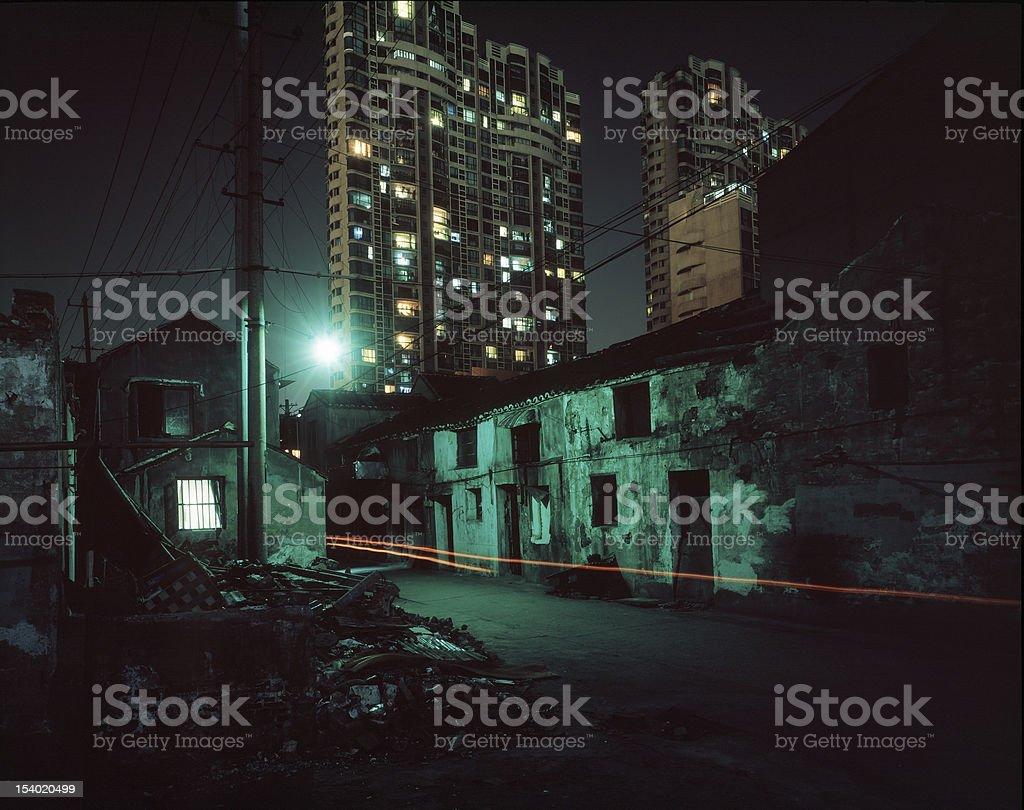 China Wuxi city at night royalty-free stock photo