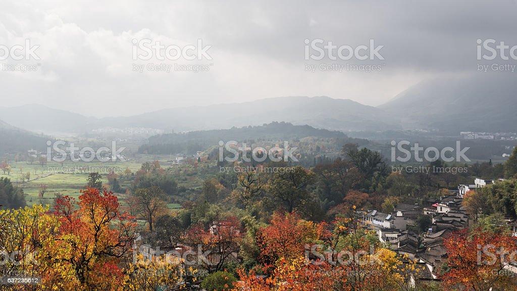 China Wuyuan beautiful rural natural landscape stock photo