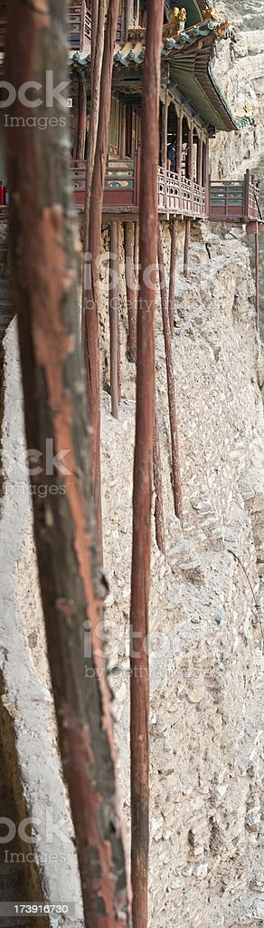 China Xuankong Si Hanging Temple vertical royalty-free stock photo