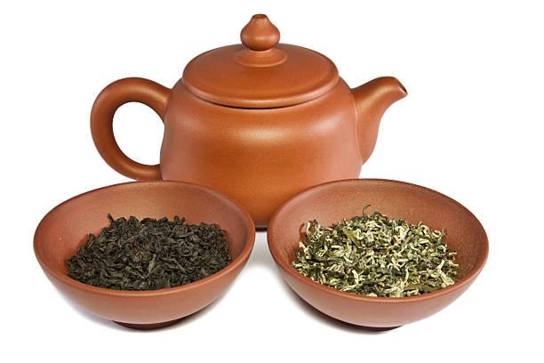 China YiXing-Teekanne und zwei bowl – Foto