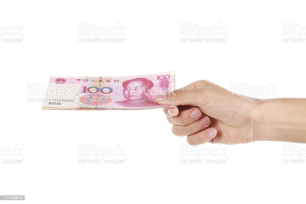 China yuan-XXXL royalty-free stock photo