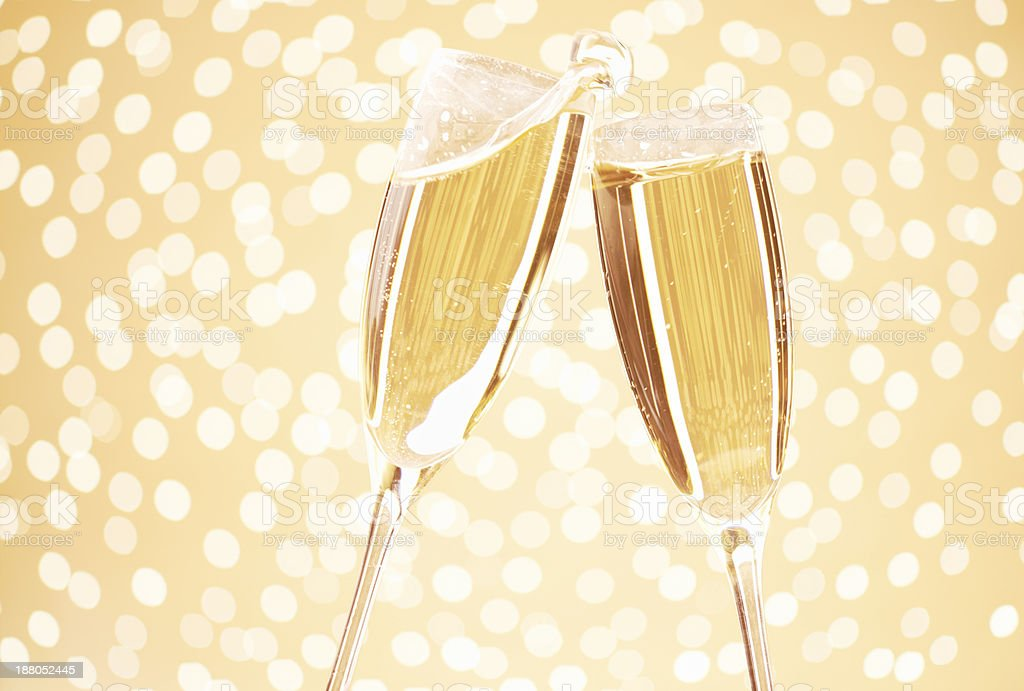Chin-chin royalty-free stock photo