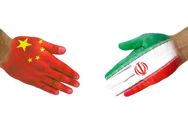 China-Iran Handshake stock photo