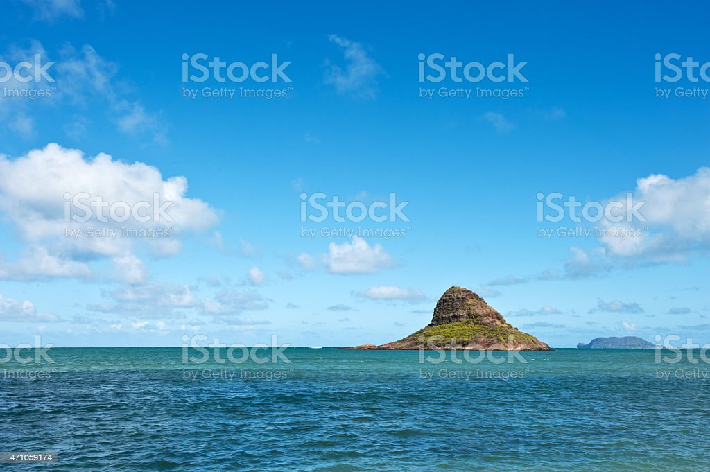 Chinaman's Hat Island, Mokoli'i Island Oahu, Hawaii stock photo