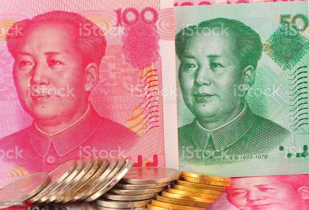 Çin'in para birimi, yuan - Royalty-free Banka Stok görsel