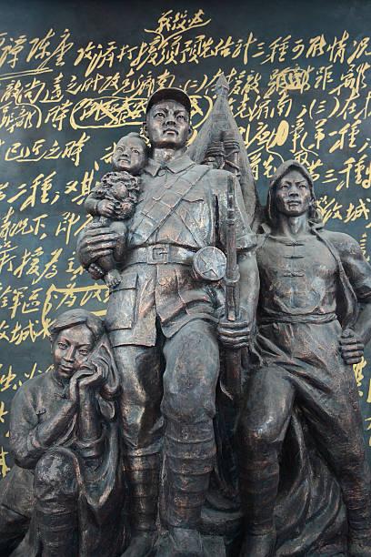 china's revolutionary statue - chinese military bildbanksfoton och bilder