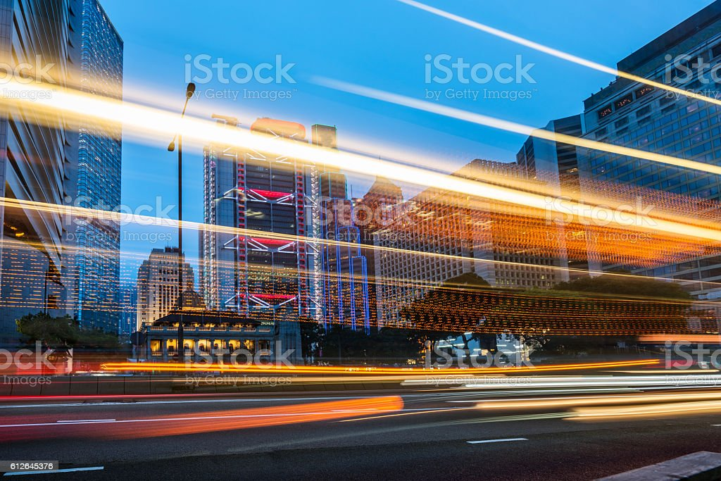 china,shanghai,night scene of lujiazui financial district stock photo
