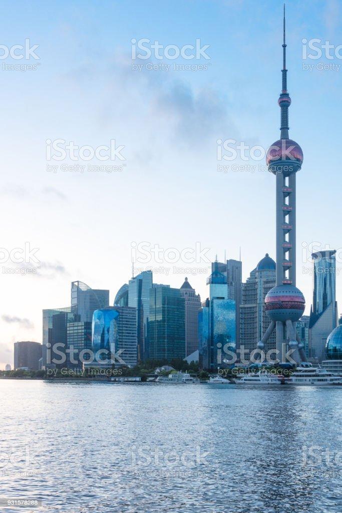 China,Shanghai,the bund skyline stock photo