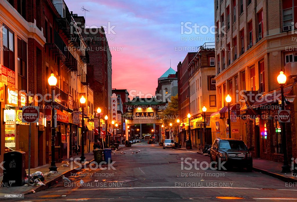 Chinatown, Boston stock photo