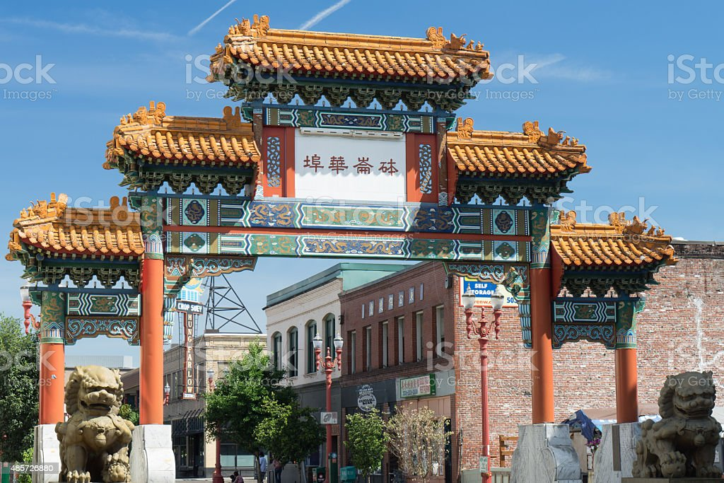 Chinatown Gateway stock photo