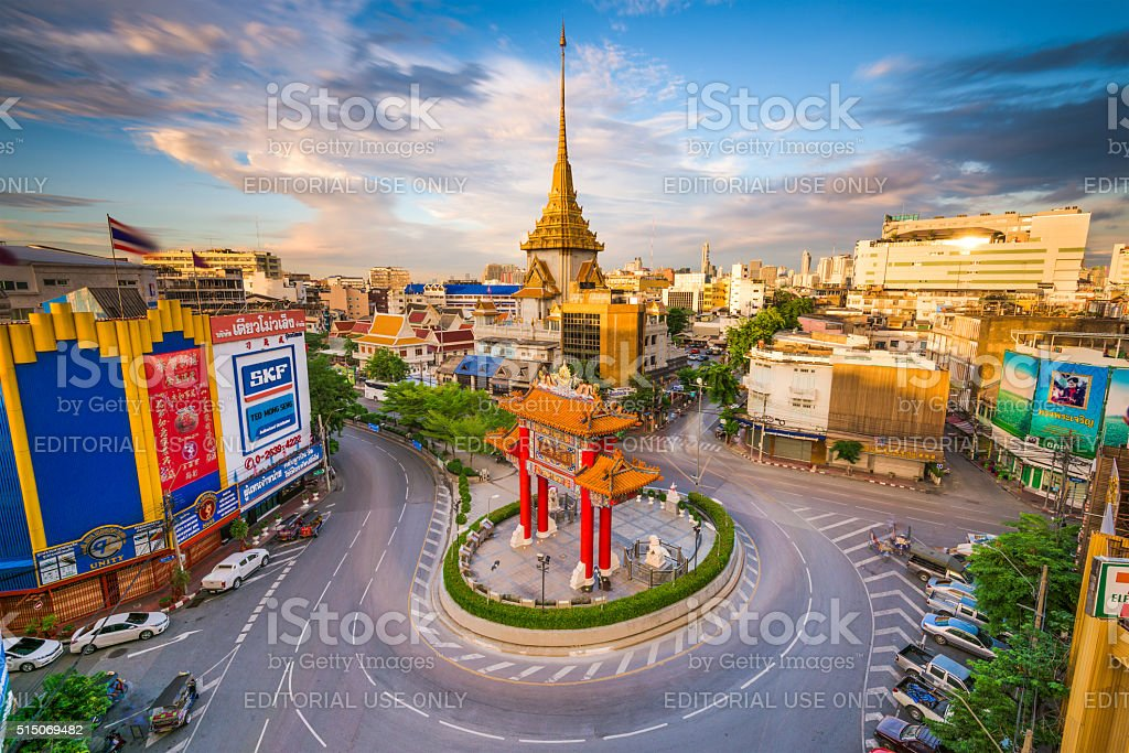 Chinatown in Bangkok stock photo