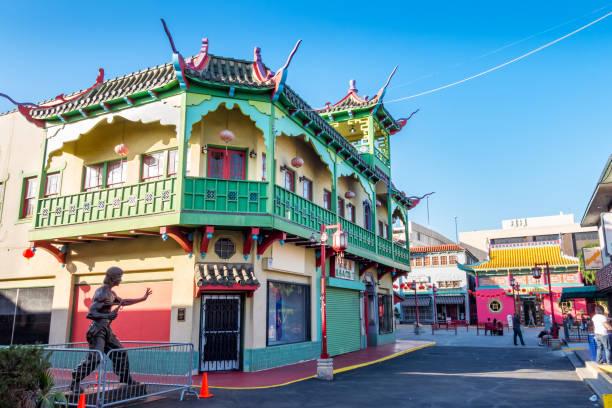 Chinatown em Los Angeles da Baixa Califórnia EUA - foto de acervo
