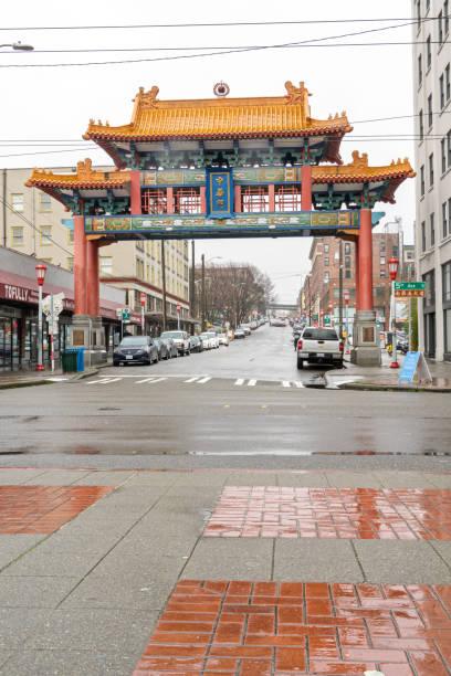 chinatown in regen - hatfield town stock-fotos und bilder