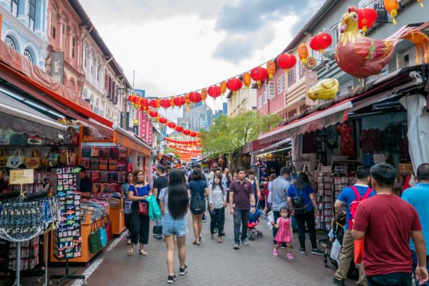 Chinatown in Singapore stock photo