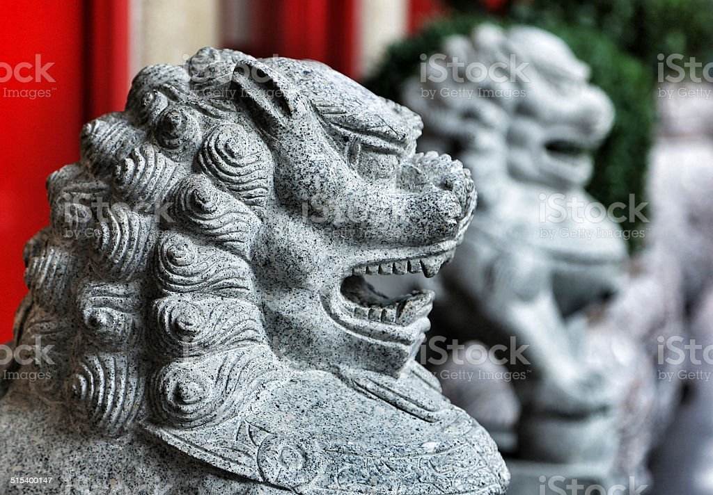 Chinatown Lions stock photo
