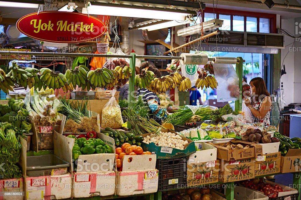 Chinatown market fruit produce vendor Honolulu Hawaii foto royalty-free