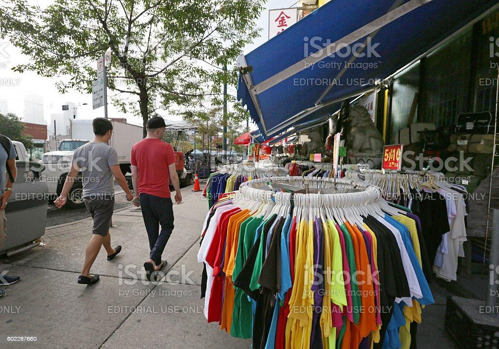 Chinatown Market, Kensington Neighbourhood, Spadina Avenue, Toronto, Canada in Summer stock photo
